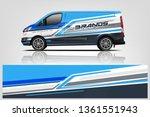 van wrap design. wrap  sticker... | Shutterstock .eps vector #1361551943