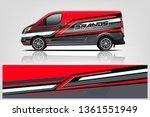 van wrap design. wrap  sticker... | Shutterstock .eps vector #1361551949