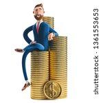 portrait of a handsome cartoon...   Shutterstock . vector #1361553653