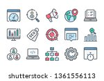 search engine optimization... | Shutterstock .eps vector #1361556113