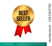 best seller stamp  seal banner... | Shutterstock .eps vector #1361563700