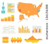 infographics and statistics... | Shutterstock .eps vector #136156388
