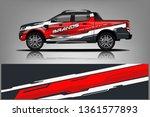 truck decal wrap design vector. ... | Shutterstock .eps vector #1361577893