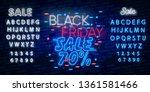 black friday sale neon sign... | Shutterstock .eps vector #1361581466