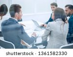 rear view .the business team is ... | Shutterstock . vector #1361582330
