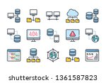 network and hosting related... | Shutterstock .eps vector #1361587823