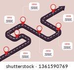 vector business milestones... | Shutterstock .eps vector #1361590769