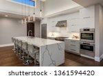 beautiful modern kitchen in new ... | Shutterstock . vector #1361594420