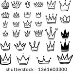 set of crown illustrations in... | Shutterstock .eps vector #1361603300