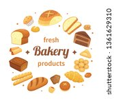 round bakery products label.... | Shutterstock .eps vector #1361629310