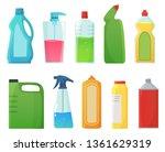 detergent bottles. cleaning... | Shutterstock .eps vector #1361629319