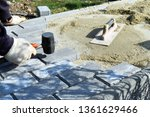 construction worker are laying... | Shutterstock . vector #1361629466