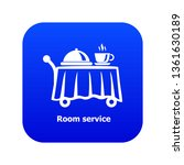room service icon blue vector...