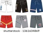 design vector template short    Shutterstock .eps vector #1361634869