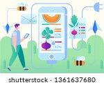 vector illustration smart farm... | Shutterstock .eps vector #1361637680