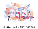 vector illustration sale in... | Shutterstock .eps vector #1361641946