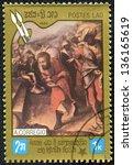 laos   circa 1984  a stamp... | Shutterstock . vector #136165619