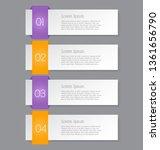 business infographics template... | Shutterstock .eps vector #1361656790