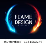 burning fire circle banner.... | Shutterstock .eps vector #1361663249