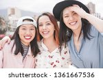 asian women friends having fun... | Shutterstock . vector #1361667536