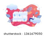 performance analysis blockchain ... | Shutterstock .eps vector #1361679050