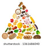 food pyramid on white... | Shutterstock . vector #1361686040