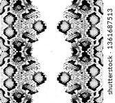 snake skin scales texture.... | Shutterstock .eps vector #1361687513