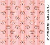 seamless lovely wallpaper... | Shutterstock . vector #136168760