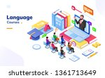 people at foreign language... | Shutterstock .eps vector #1361713649
