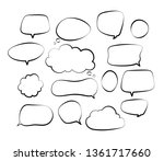 outline speech bubbles. doodle... | Shutterstock .eps vector #1361717660