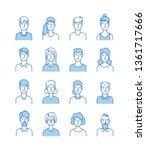line avatars. happy people...   Shutterstock .eps vector #1361717666