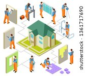 construction  reconstruction... | Shutterstock .eps vector #1361717690