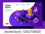cyber sport. esports stream... | Shutterstock .eps vector #1361718020