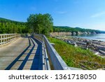 elevated footpath in the... | Shutterstock . vector #1361718050