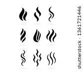 heat vector icon set isolated... | Shutterstock .eps vector #1361721446
