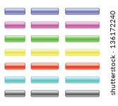 vector set of colorful glass... | Shutterstock .eps vector #136172240