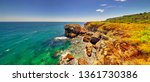 beautiful landscape with rocky... | Shutterstock . vector #1361730386