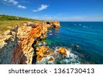 beautiful landscape with rocky... | Shutterstock . vector #1361730413