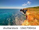 beautiful landscape with rocky... | Shutterstock . vector #1361730416