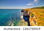 beautiful landscape with rocky... | Shutterstock . vector #1361730419