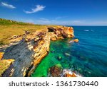beautiful landscape with rocky... | Shutterstock . vector #1361730440