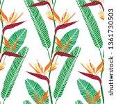 elegant seamless pattern with...   Shutterstock .eps vector #1361730503