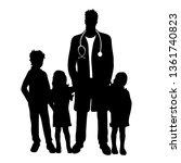 vector silhouette of... | Shutterstock .eps vector #1361740823