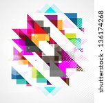 abstract business colorful... | Shutterstock .eps vector #136174268