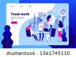 teamwork concept. people... | Shutterstock .eps vector #1361745110