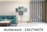 interior of the living room. 3d ... | Shutterstock . vector #1361746076