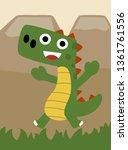 dino in jurassic world vector...   Shutterstock .eps vector #1361761556