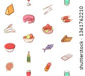 food images. background for... | Shutterstock .eps vector #1361762210