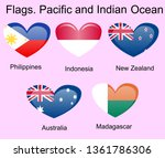 flags of oceania countries in... | Shutterstock .eps vector #1361786306