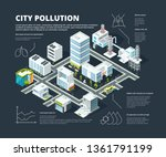 urban infographic. business... | Shutterstock .eps vector #1361791199